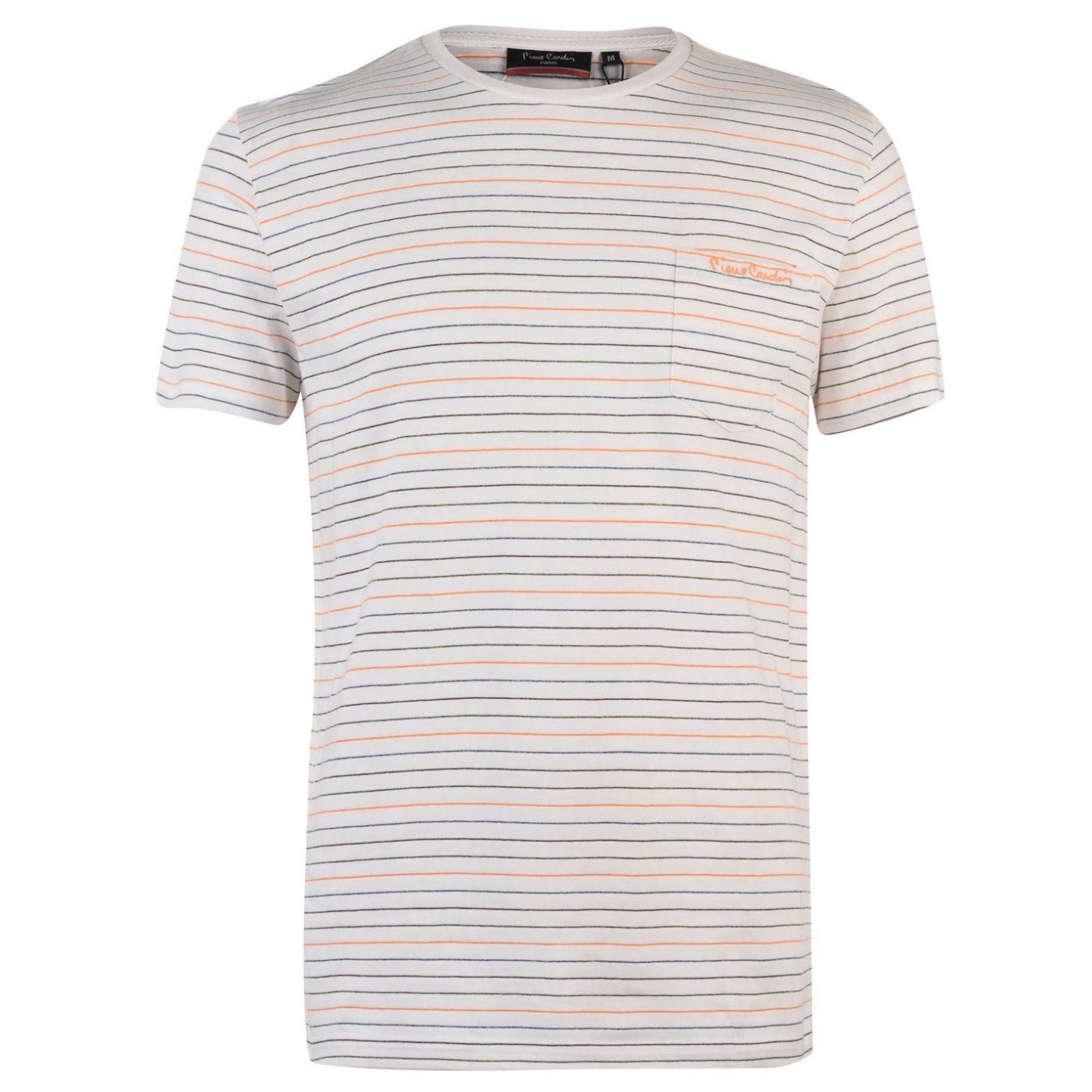 Pierre Cardin Pinstripe T Shirt Mens