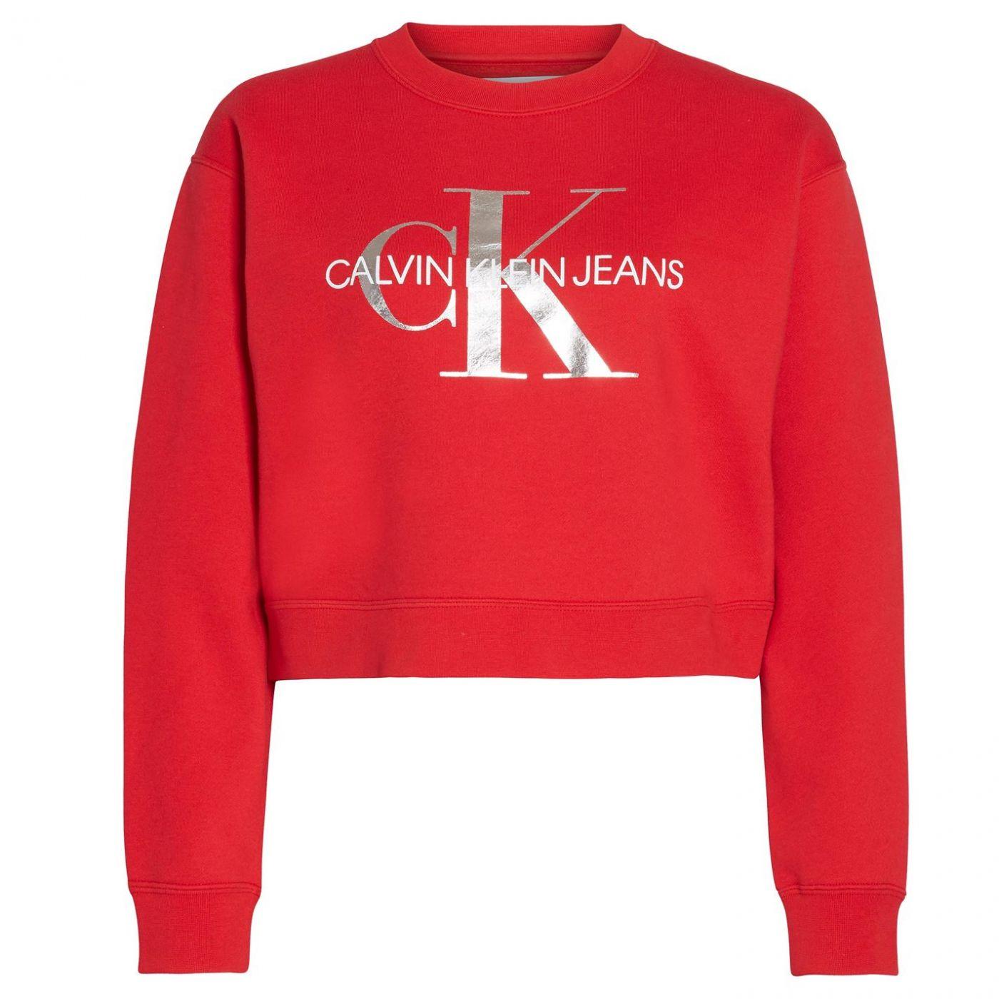 Calvin Klein Jeans Mono Crop Sweatshirt
