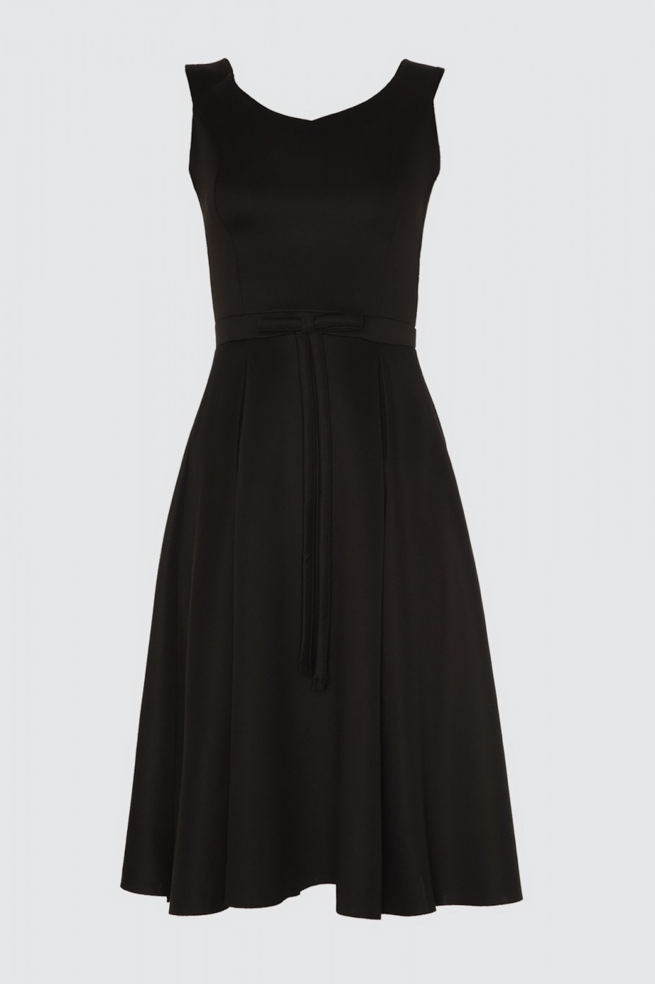 Trendyol Black Waist Ribbon Detail Dress