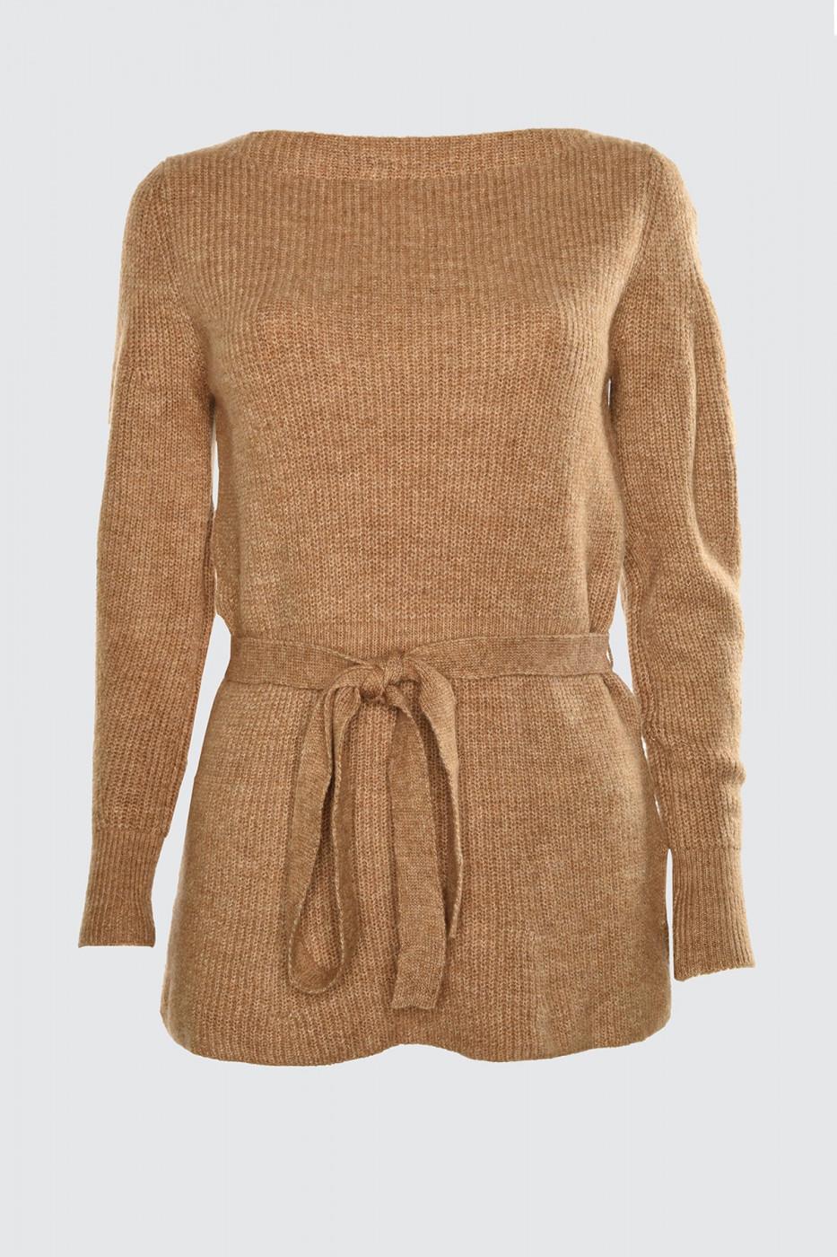 Trendyol Camel Binding Detailed Knitwear Sweater