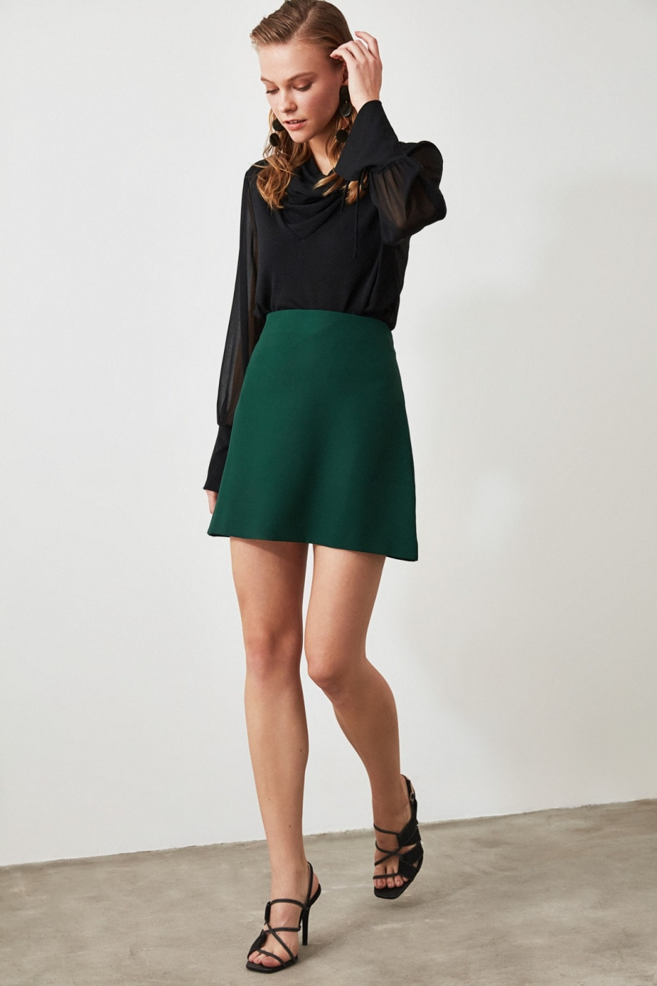 Trendyol Green Straight Skirt
