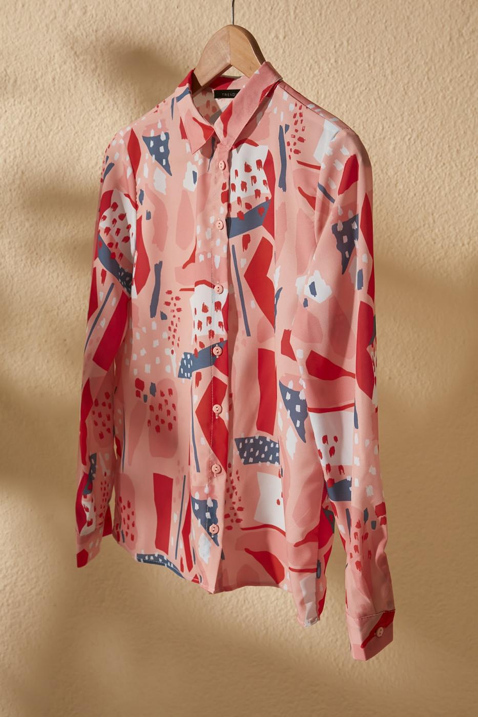 Trendyol Pink Print Detailed Shirt