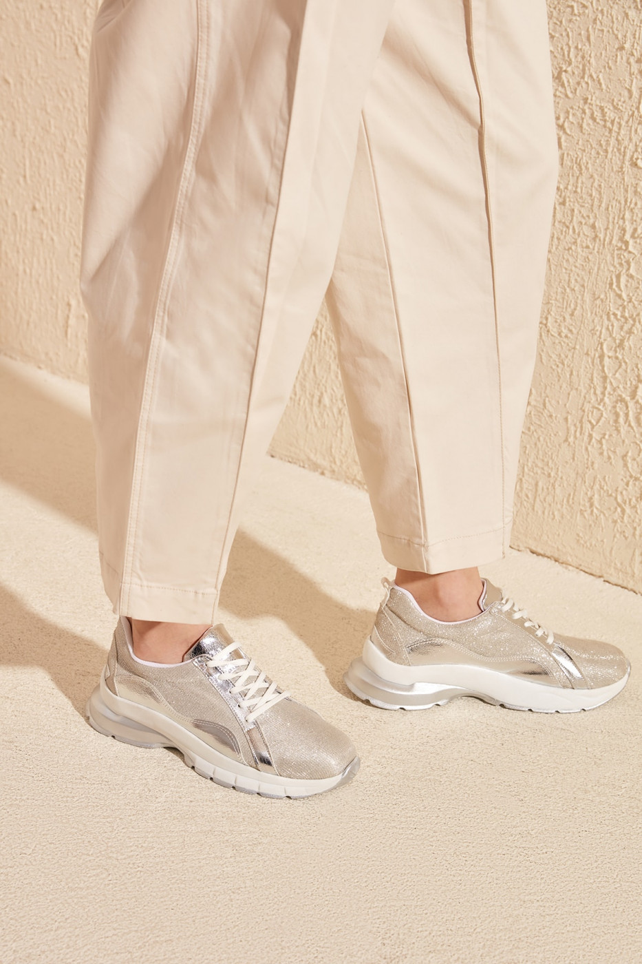 Trendyol Silver Women's Sneaker