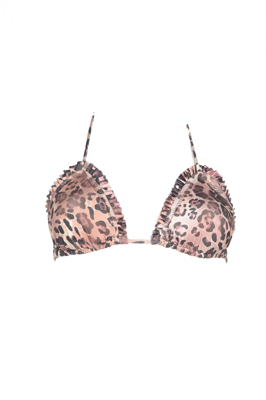 Trendyol Multi-Color Animal Patterned Bikini Top