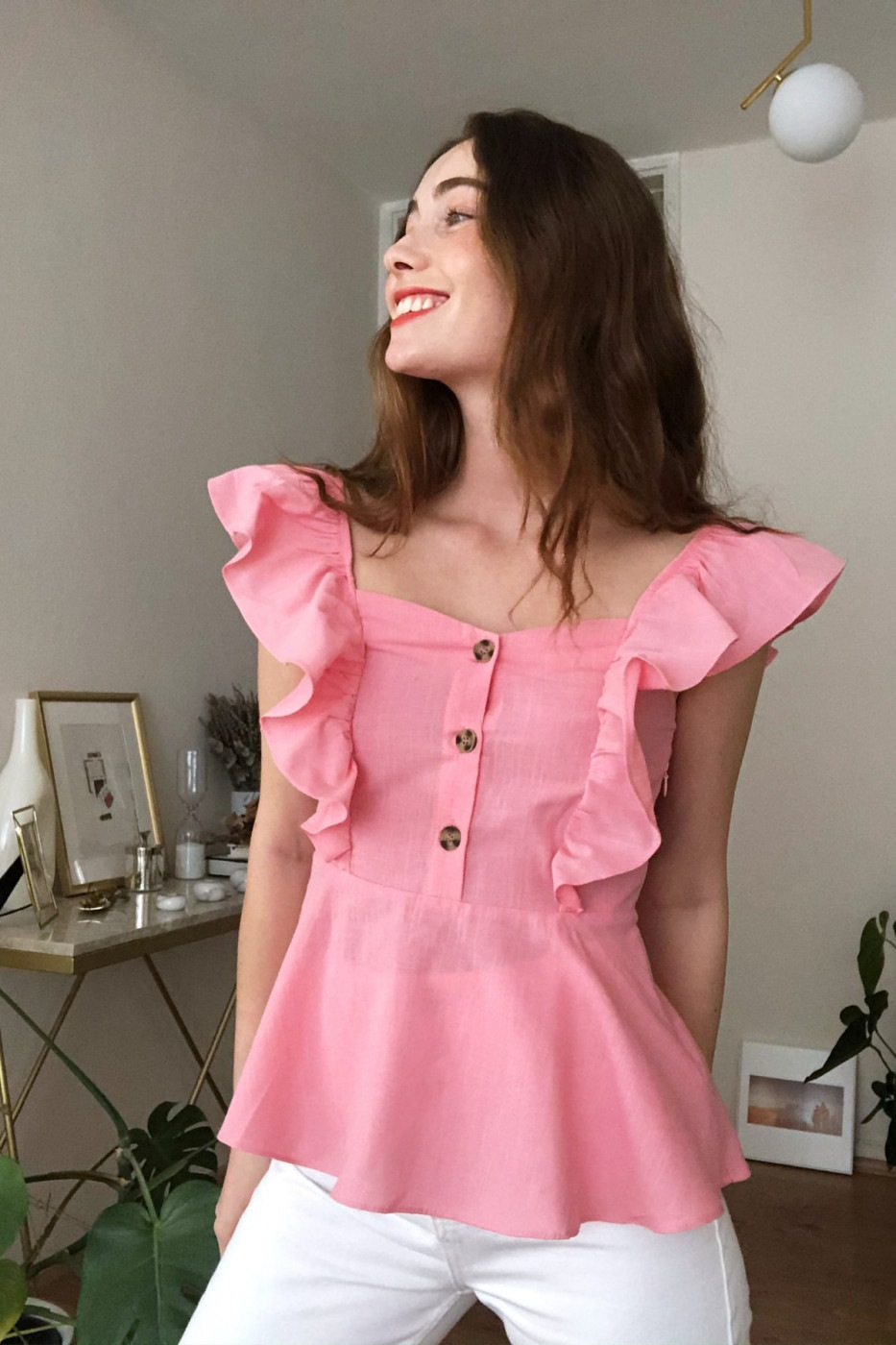Trendyol Pink Button Detailed Blouse