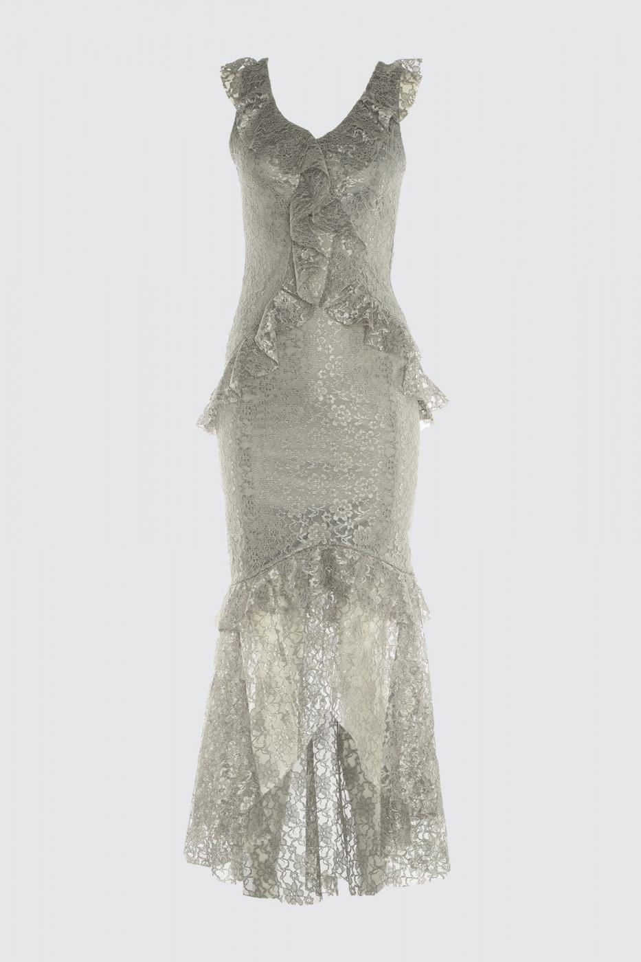 Trendyol Grey Volli Lace Dress