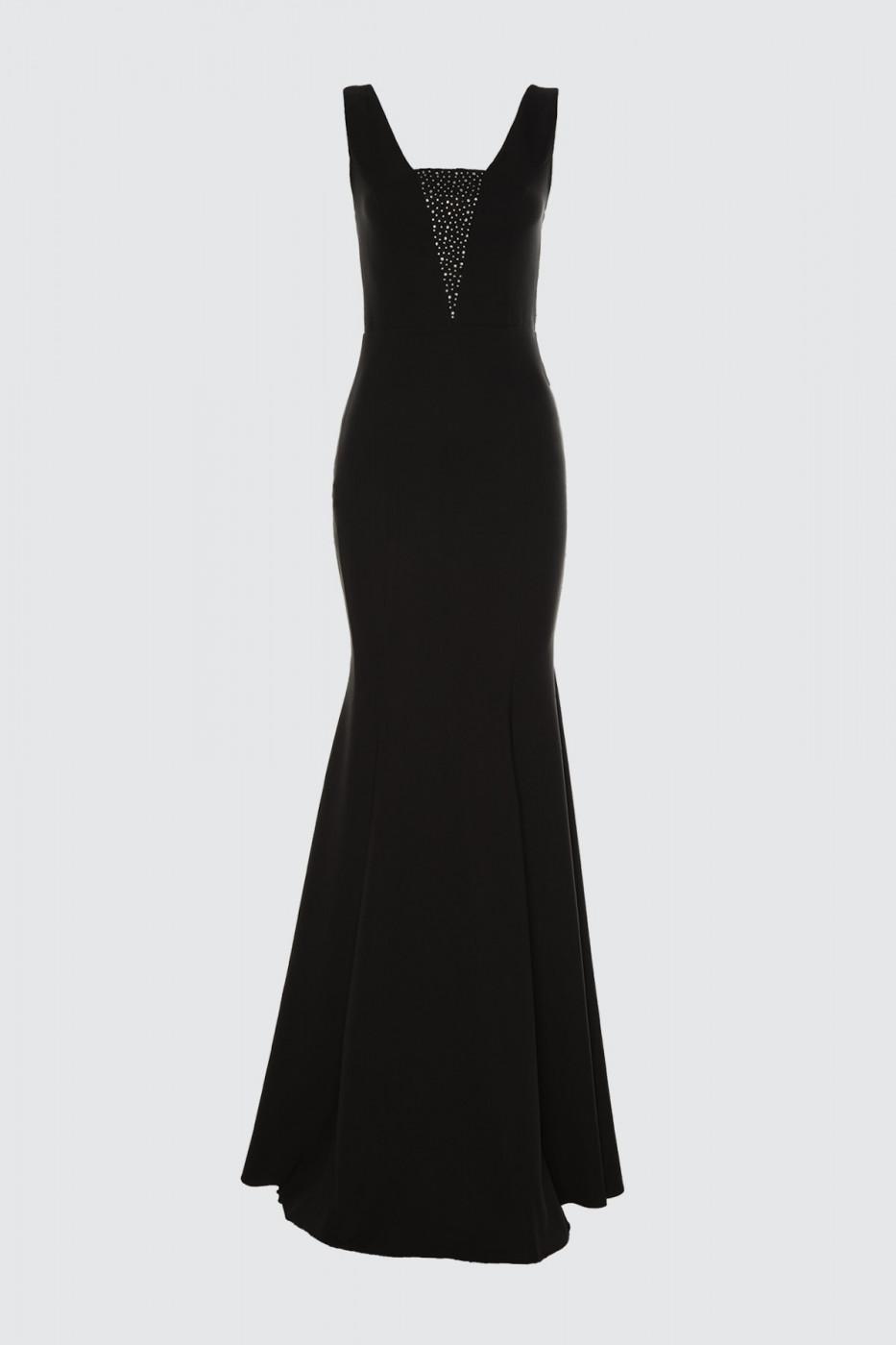 Trendyol Black Stone Printed Evening Dress & Graduation Dress