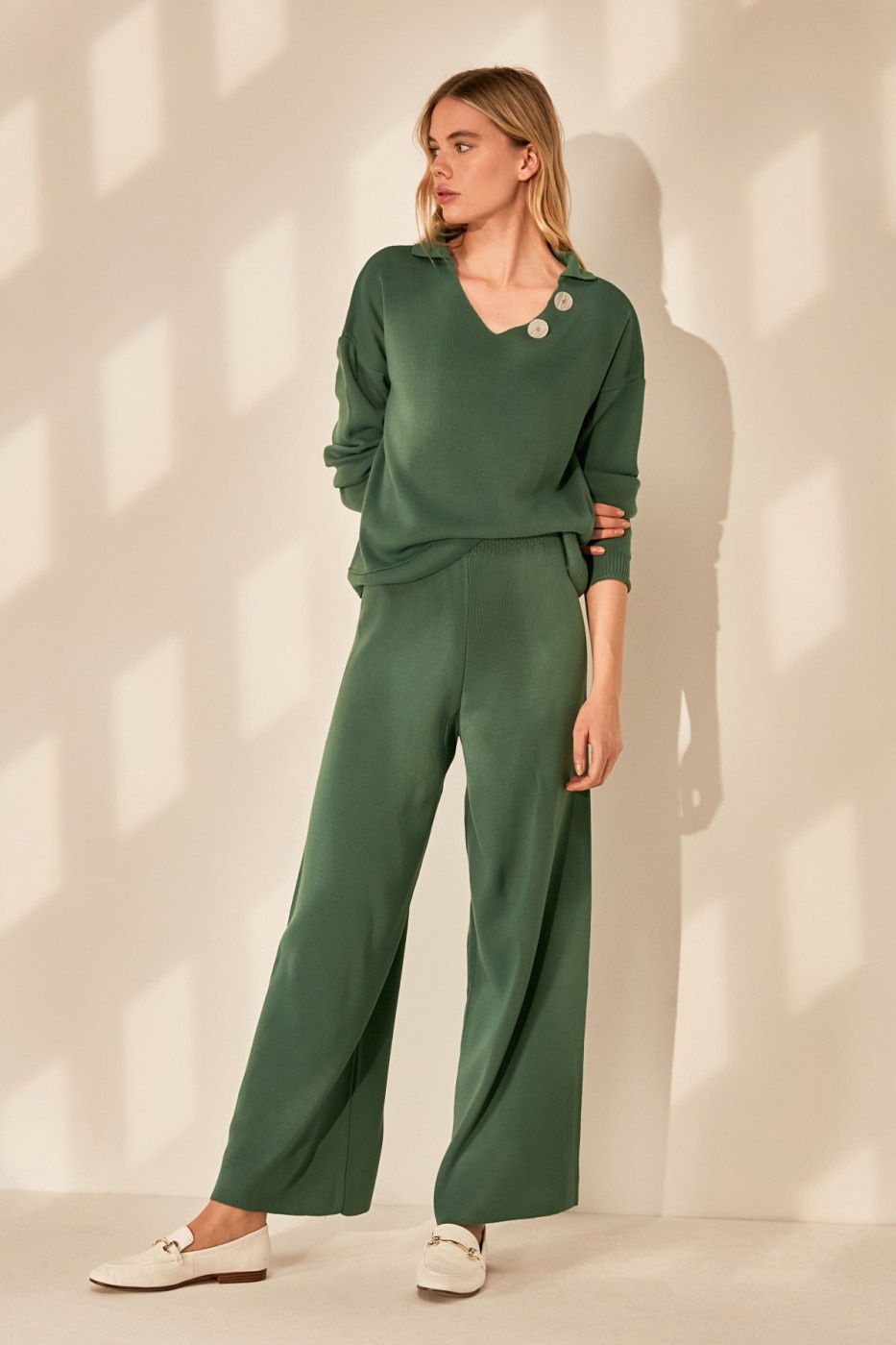 Trendyol Green 2 Sweater - Pants Knitwear Bottom-Top Team