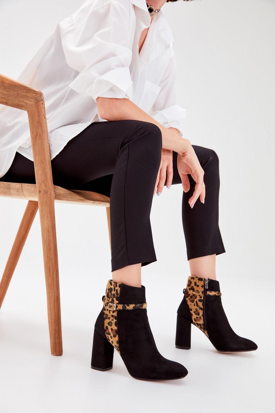 Trendyol Black Suede Women's Boots
