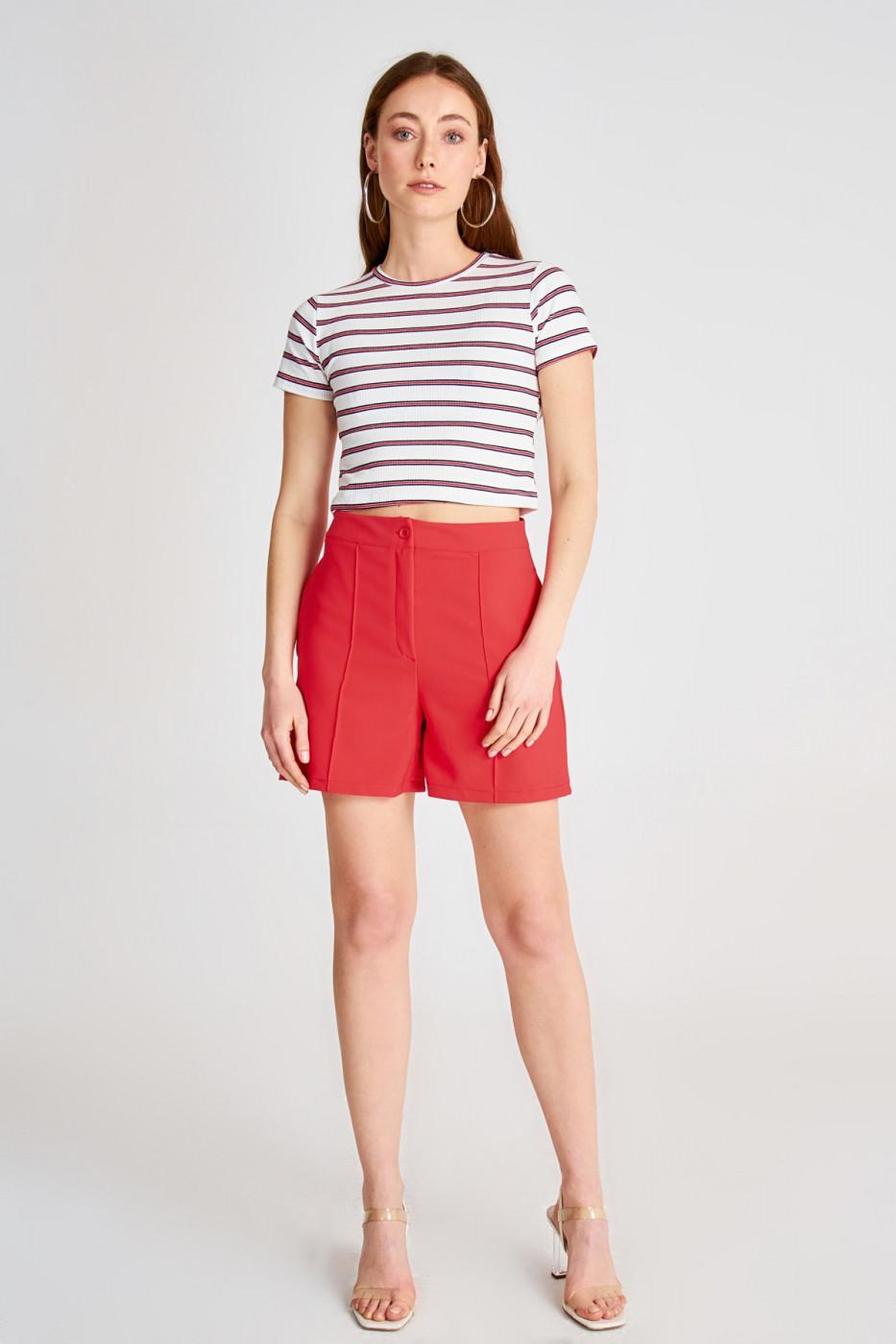 Trendyol Pomegranate Flower Basic Shorts & Bermuda