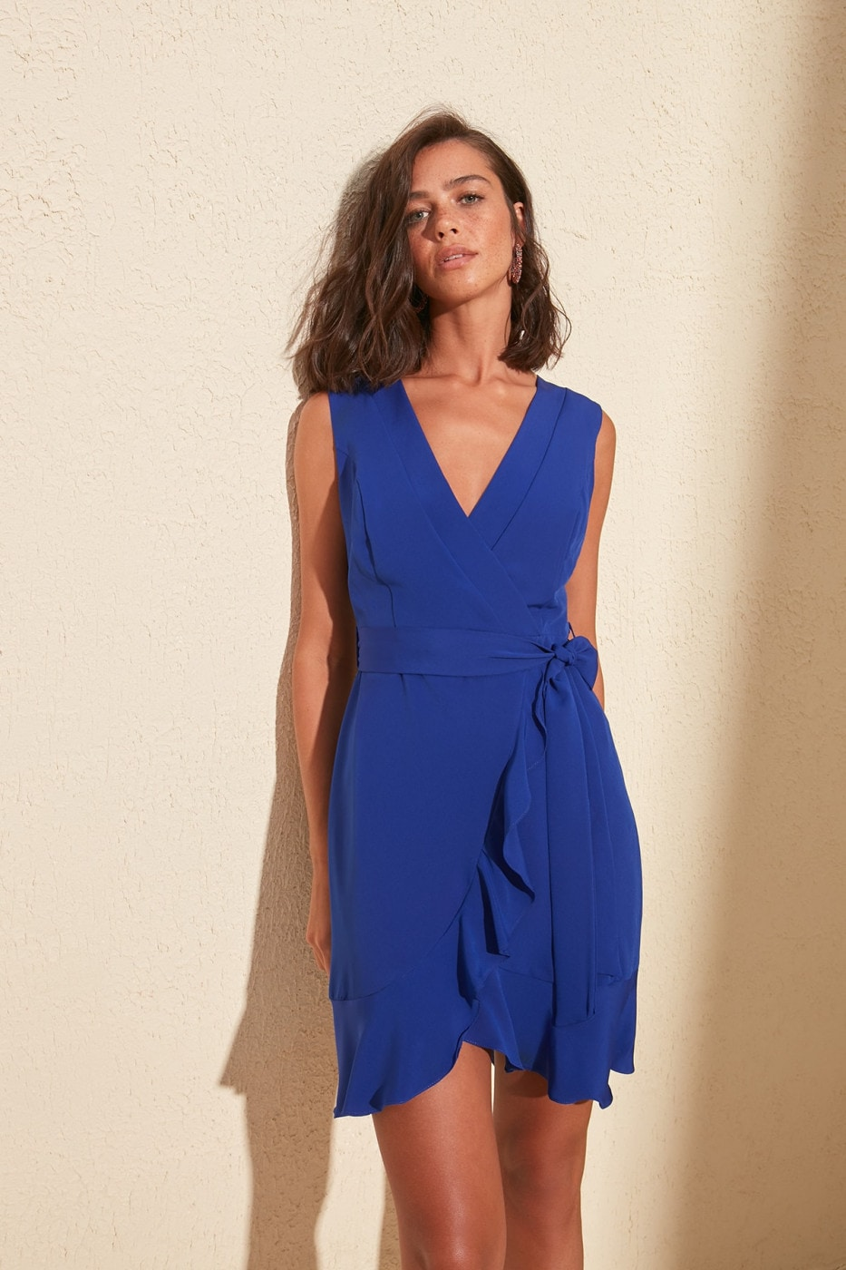 Trendyol Saks BeltEd Frill dress