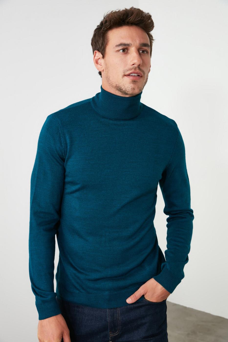 Trendyol Oil Men's Turtleneck Knitwear Sweater
