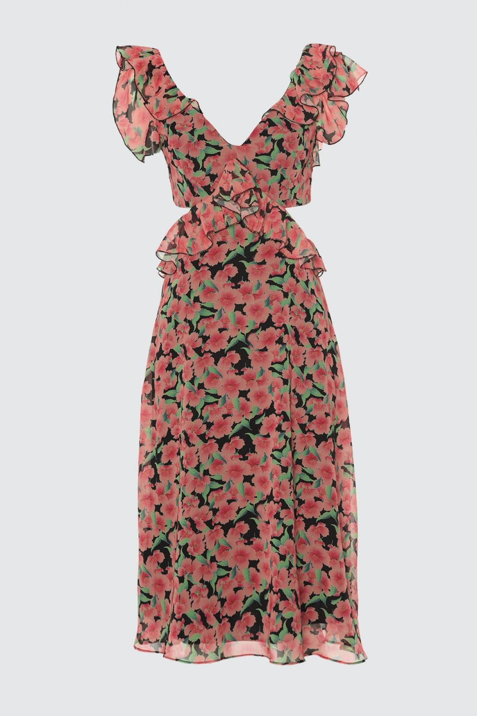 Trendyol Powder Flower Printed Dress