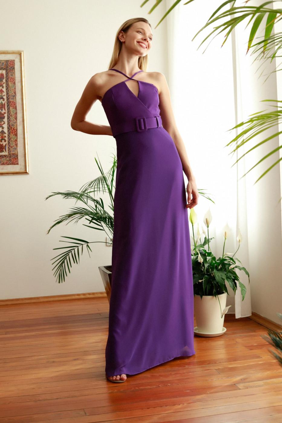Trendyol Mürdüm Hanger Evening Evening Dress & Graduation Dress