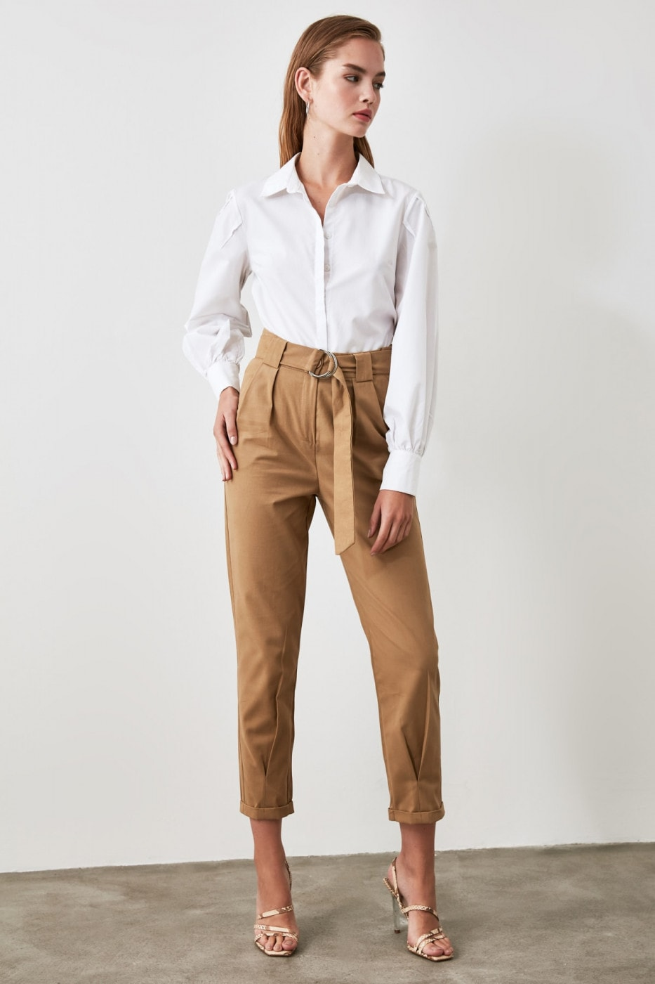 Trendyol Stone Belt Pants