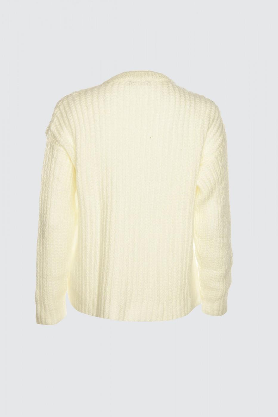 Trendyol Ekru Bicycle Collar Knitting Detailed Knitwear Sweater