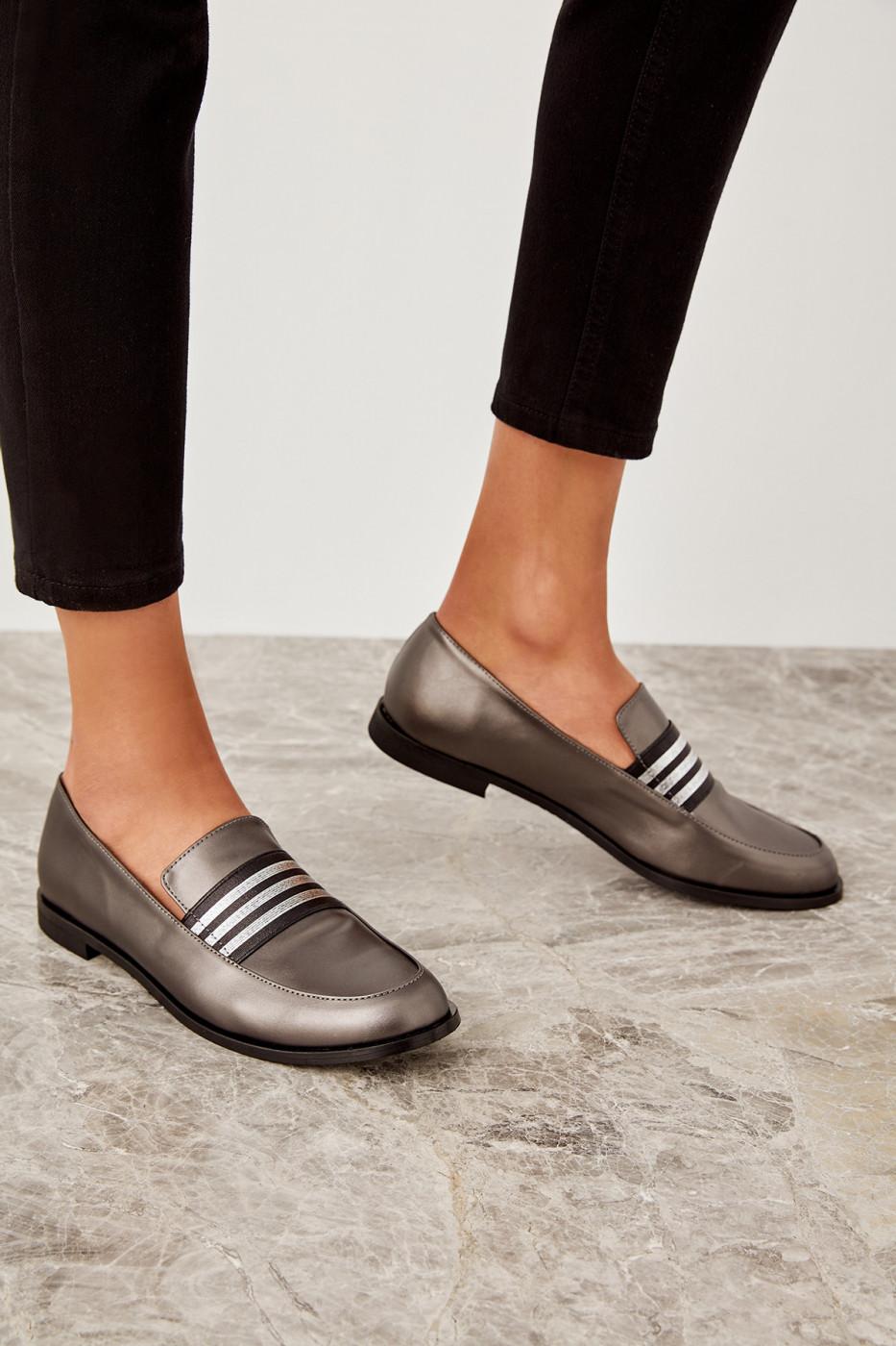 Trendyol Silver Women's Loafer Shoes