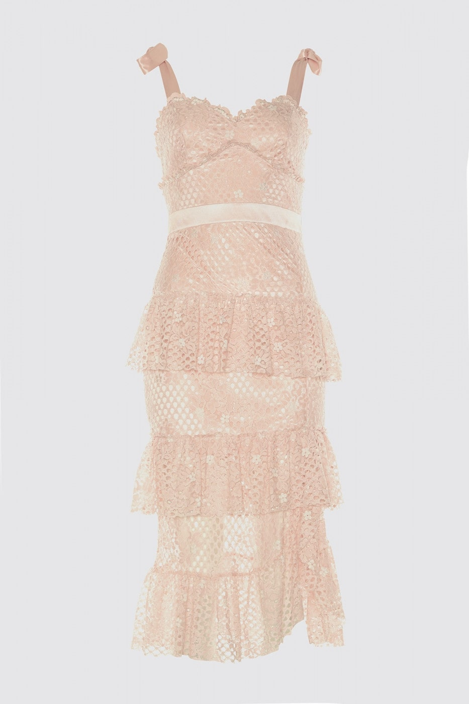 Trendyol PowderRuffRuff Detailed Lace Dress