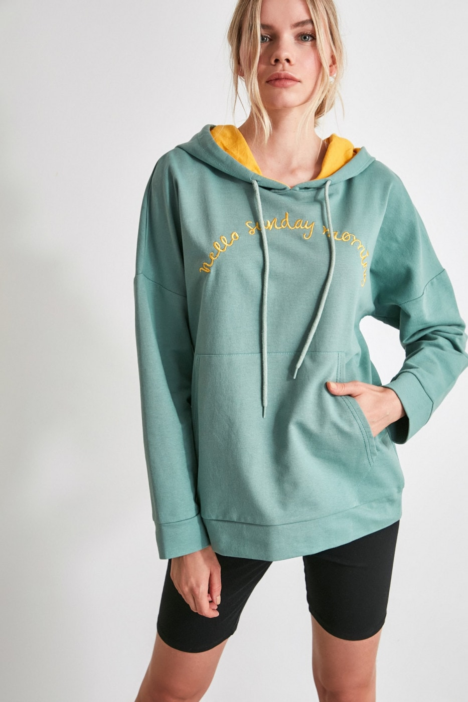 Women's Hoodie Trendyol Embroidered