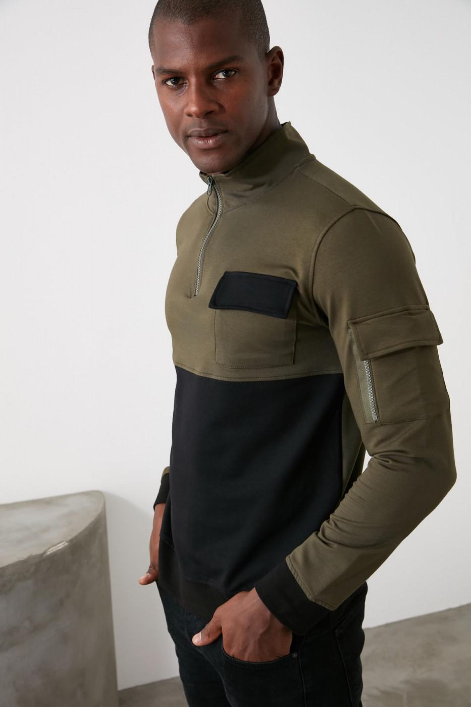 Men's sweatshirt Trendyol Pocket Detail