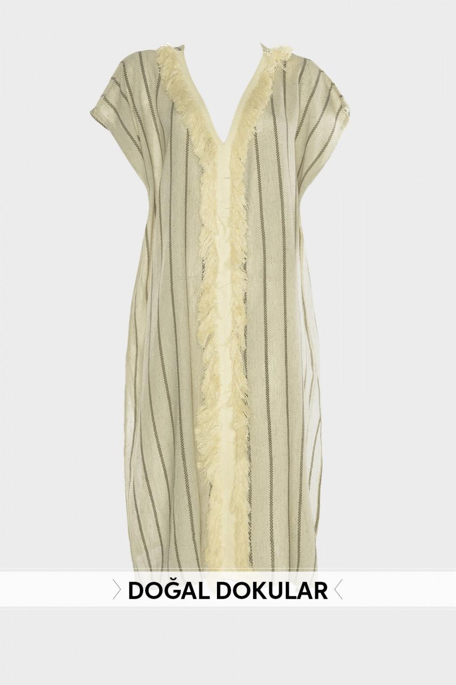 Trendyol Natural Textured Kimono&Kaftan