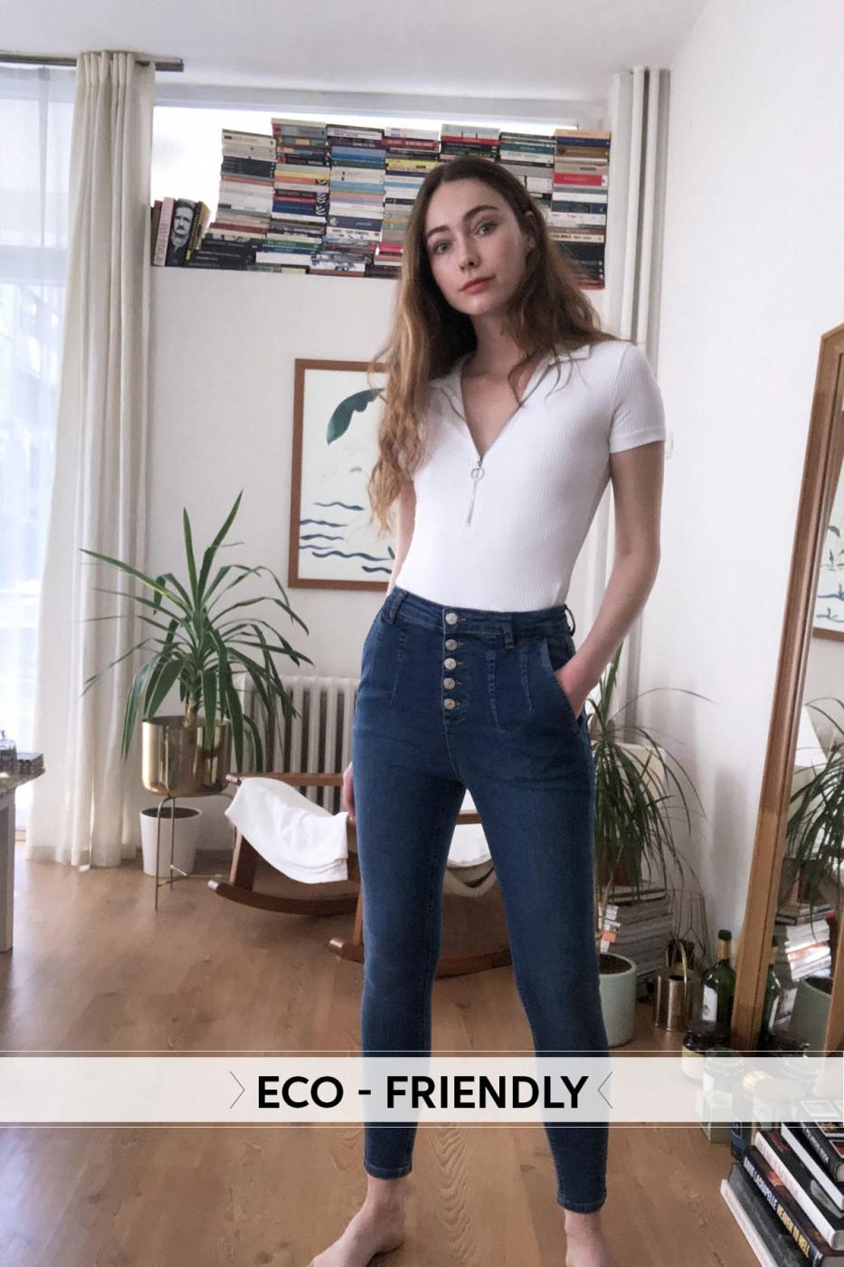 Trendyol Blue Seam Detailed High Waist Skinny Jeans