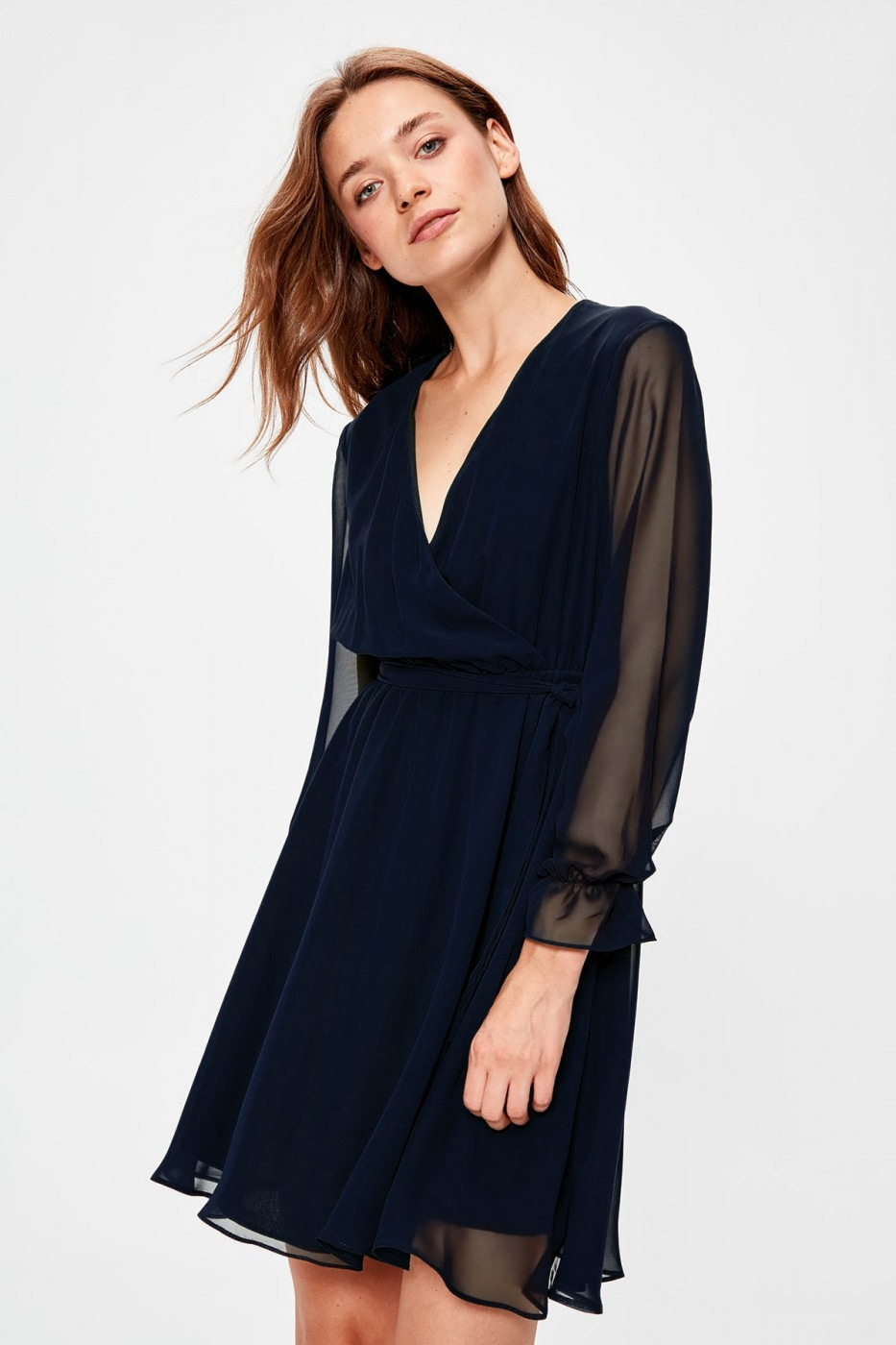 Trendyol Navy Belted Cruise Dress