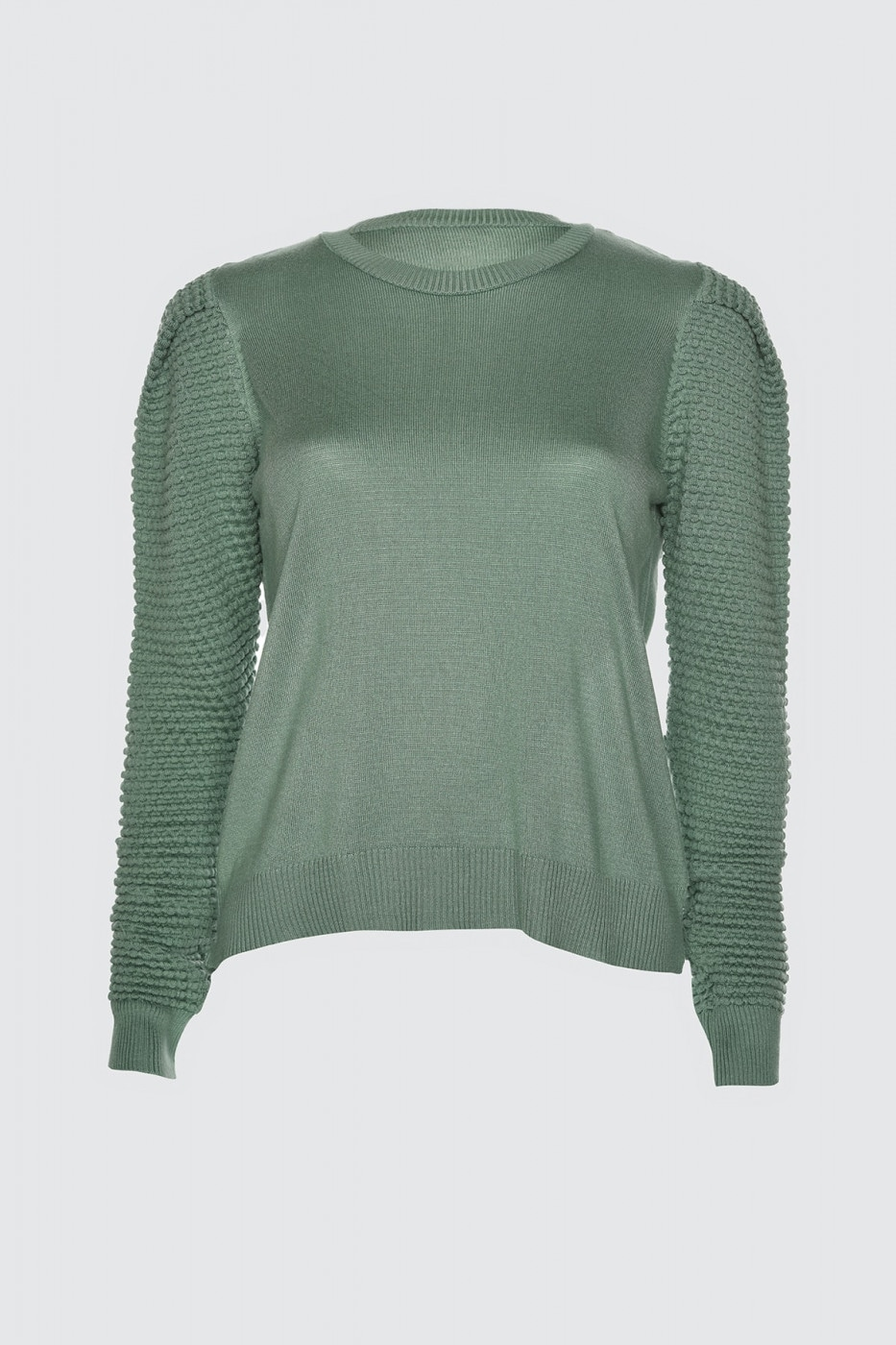 Trendyol Mint Arm Knitting Detailed Knitwear Sweater