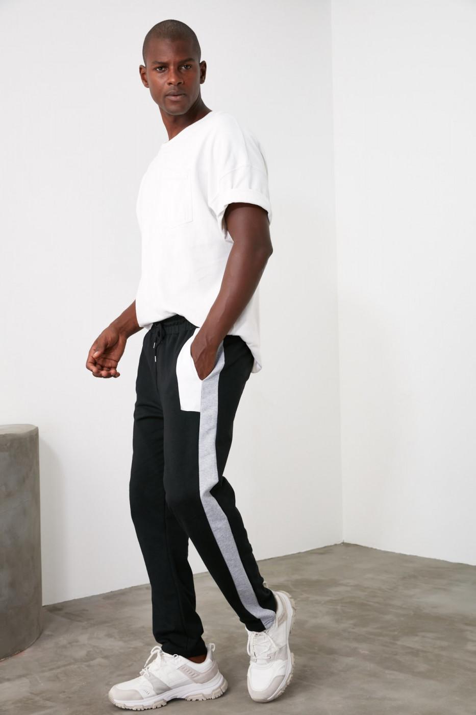 Men's sweatpants Trendyol Striped