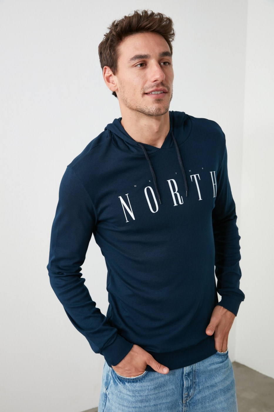 Men's T-Shirt Trendyol Hooded