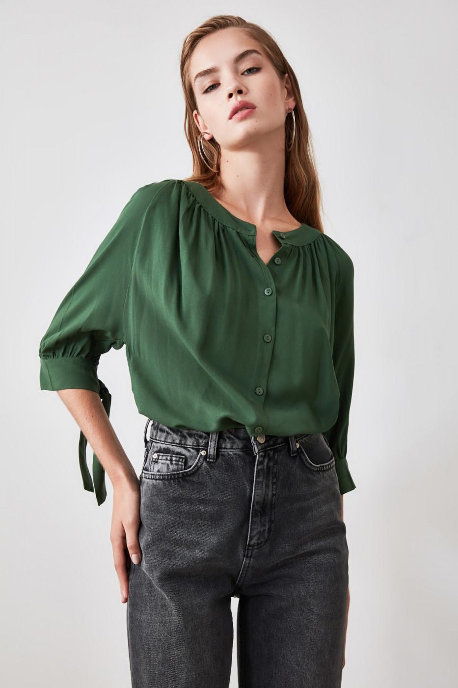 Trendyol Khaki Button Detailed Shirt