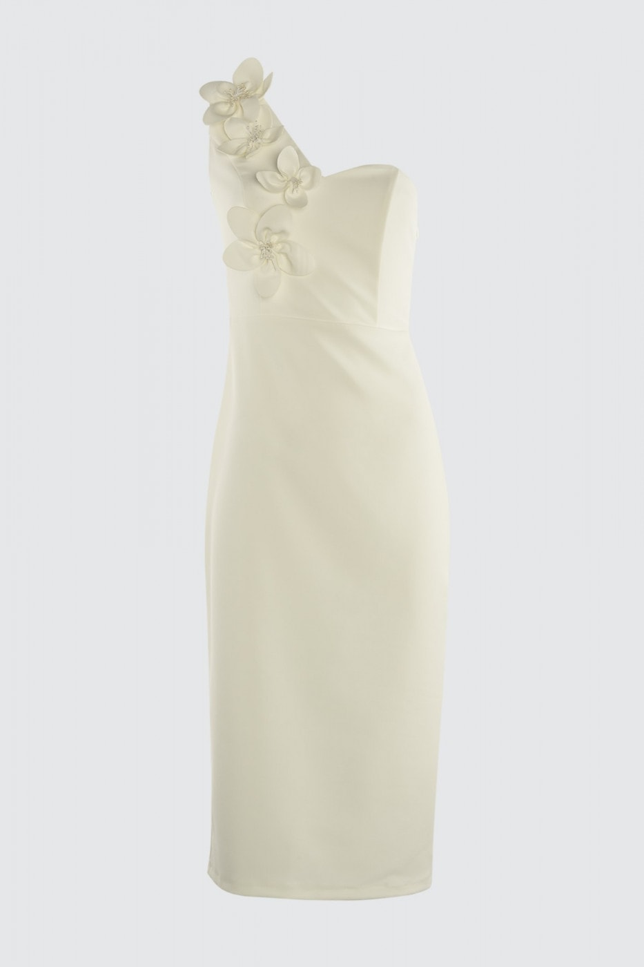 Trendyol Ekru Appliqué Detailed Dress
