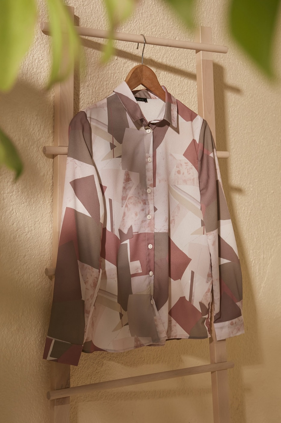 Trendyol Beige Print Detailed Shirt