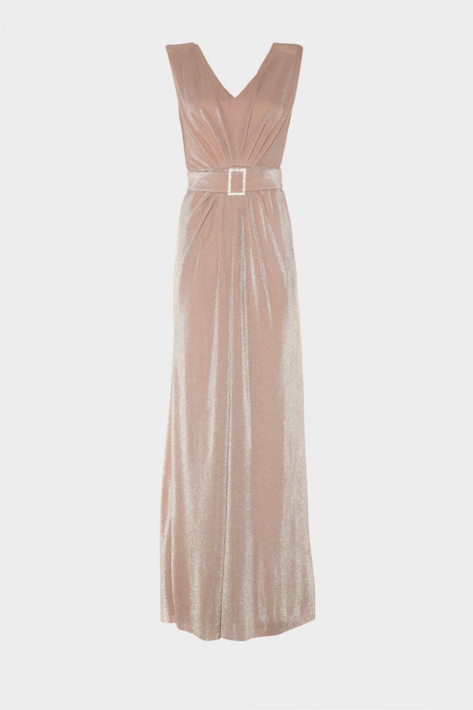 Trendyol Powder Belt Detailed Evening Dress & Graduation Dress