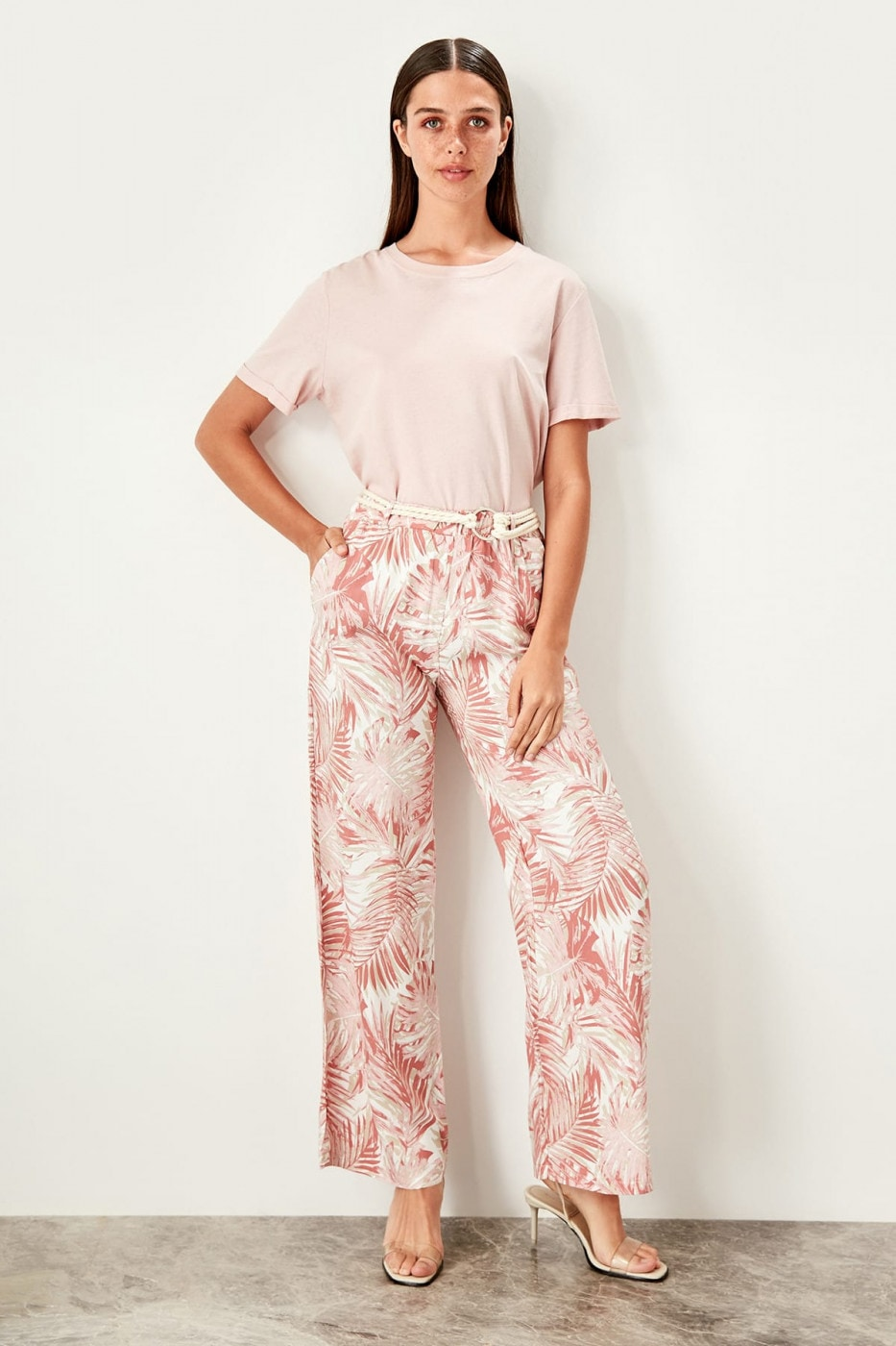 Trendyol Pink Patterned trousers