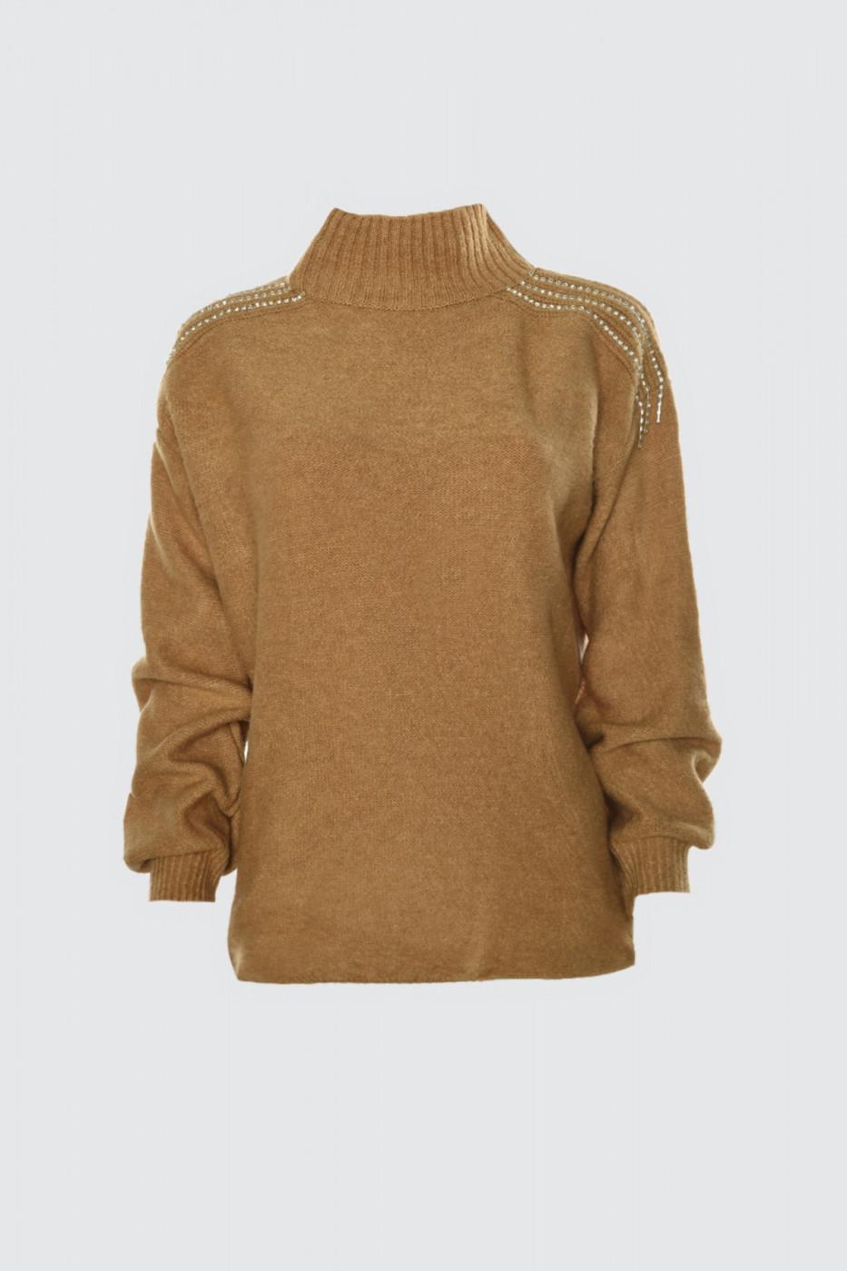 Trendyol Camel Accessory Detailed Knitwear Sweater