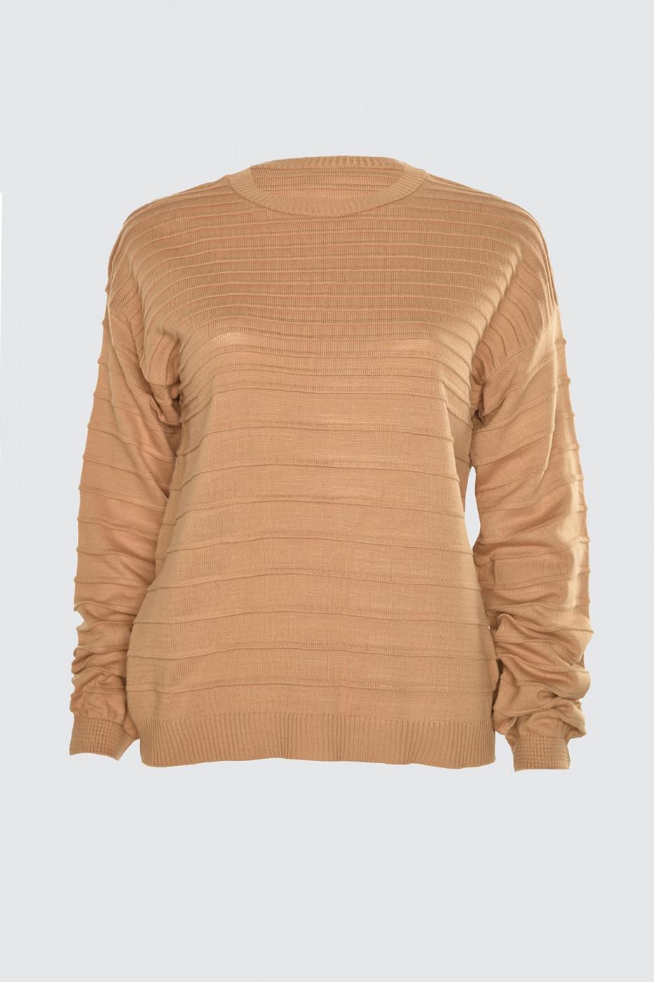 Trendyol Camel Knitted Detailed Knitwear Sweater