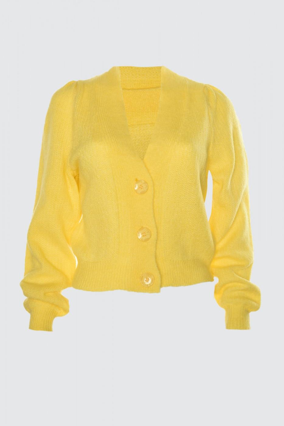 Trendyol Yellow Crop KnitWear Cardigan