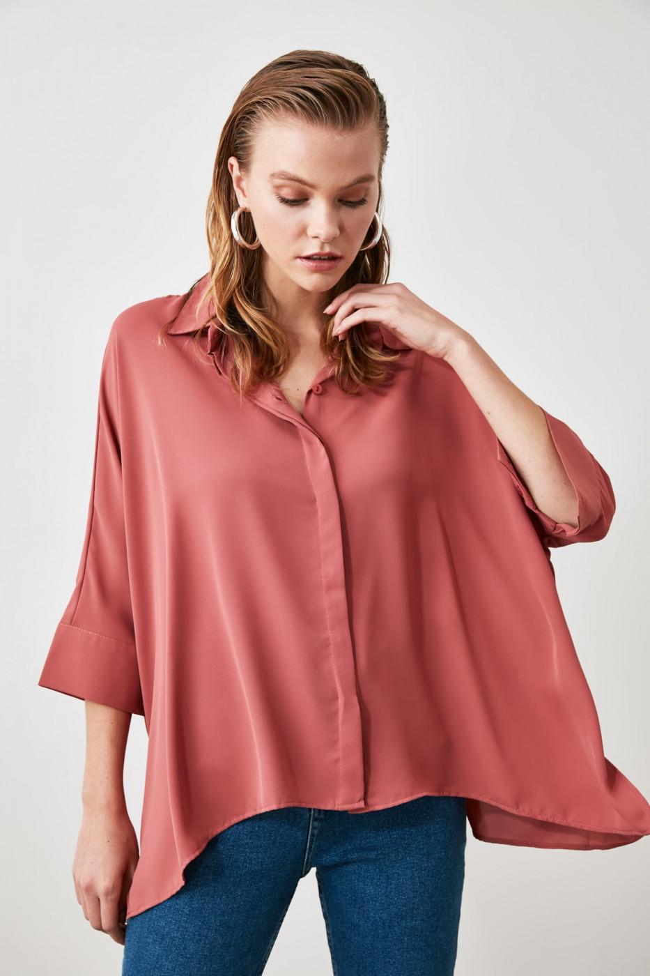 Trendyol Rose Dry Short Sleeve Shirt
