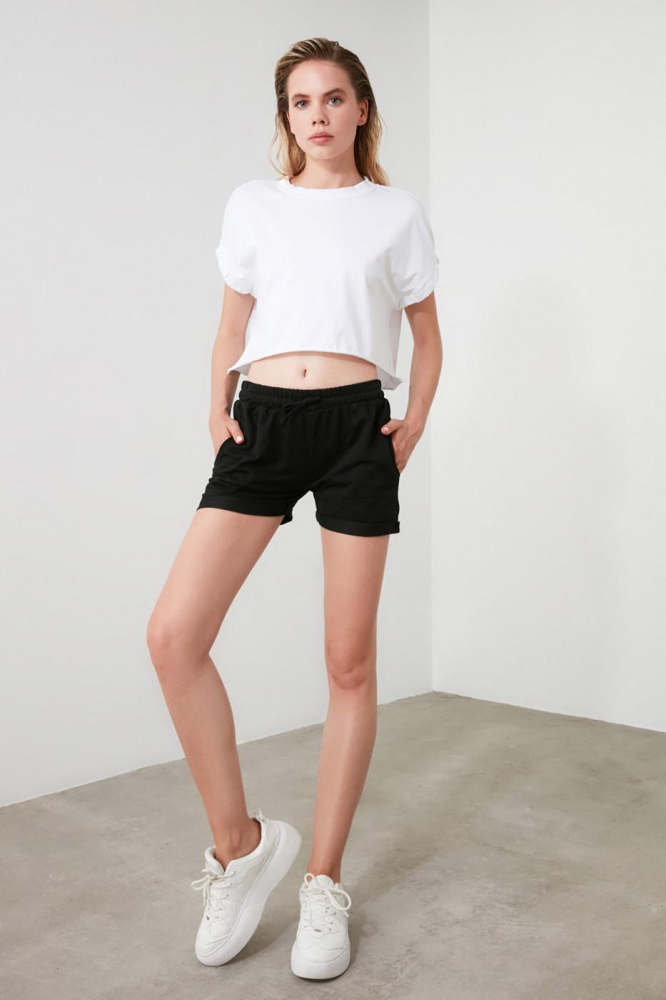 Trendyol Black Knitting Shorts & Bermuda