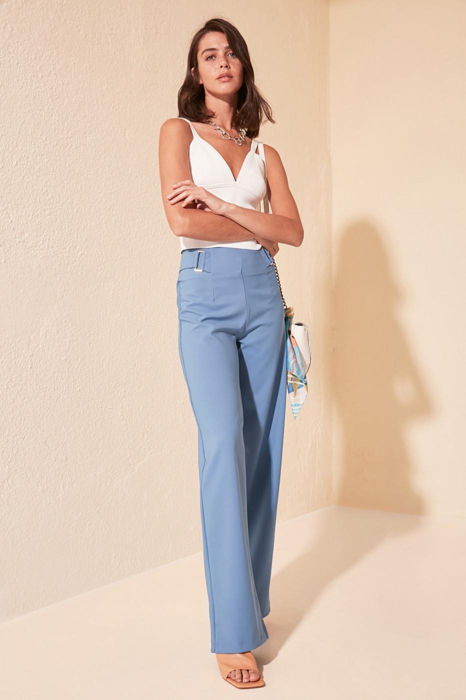 Trendyol Blue Baggy Leg Pants
