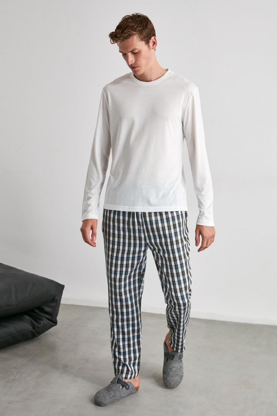 Trendyol Plaid Woven Pajamas bottom