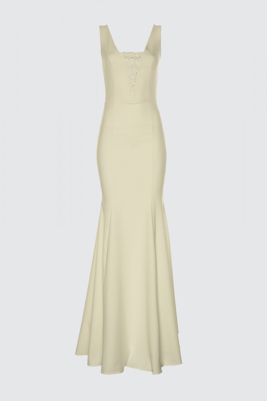 Trendyol Ekru Stone Printed Evening Dress & Graduation Dress