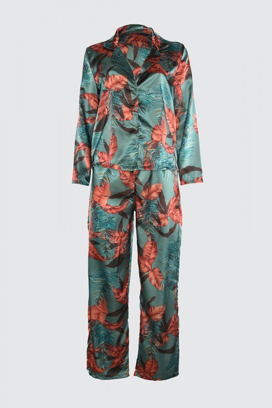 Trendyol Multi-Color Satin Woven Pyjama Set