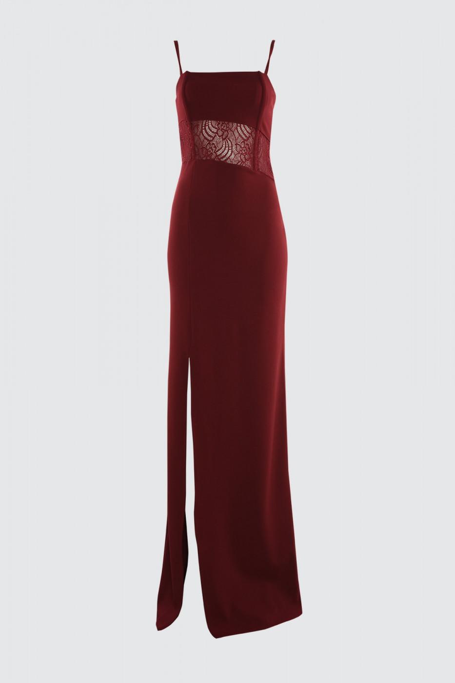 Trendyol Burgundy Lace Detailed Balenli Evening Dress & Graduation Dress