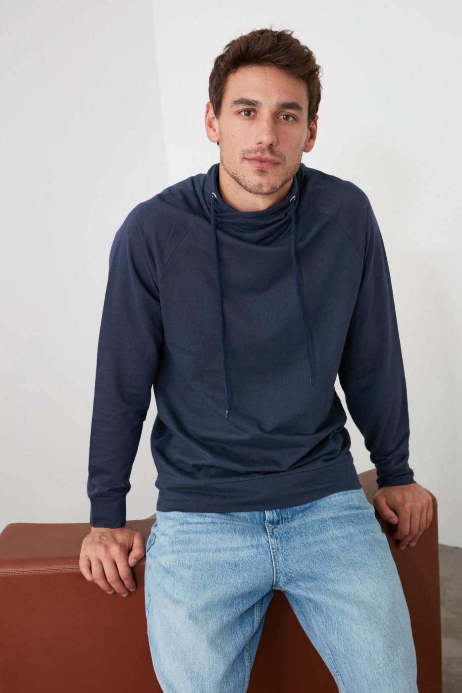 Trendyol Indigo Men's Sweatshirt