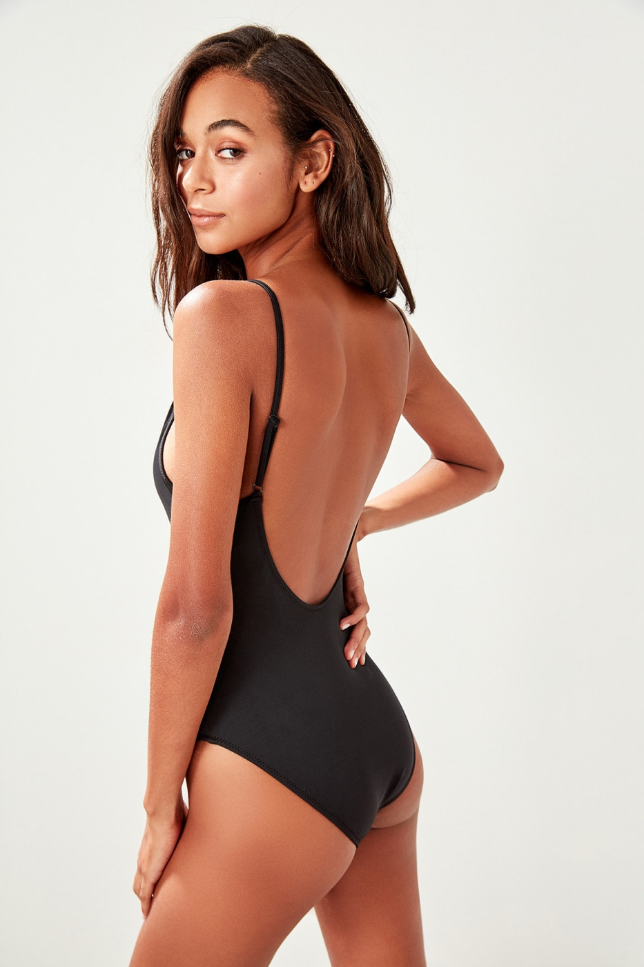 6ab2993b73c2d Trendyol Black Halter Swimsuit - FACTCOOL