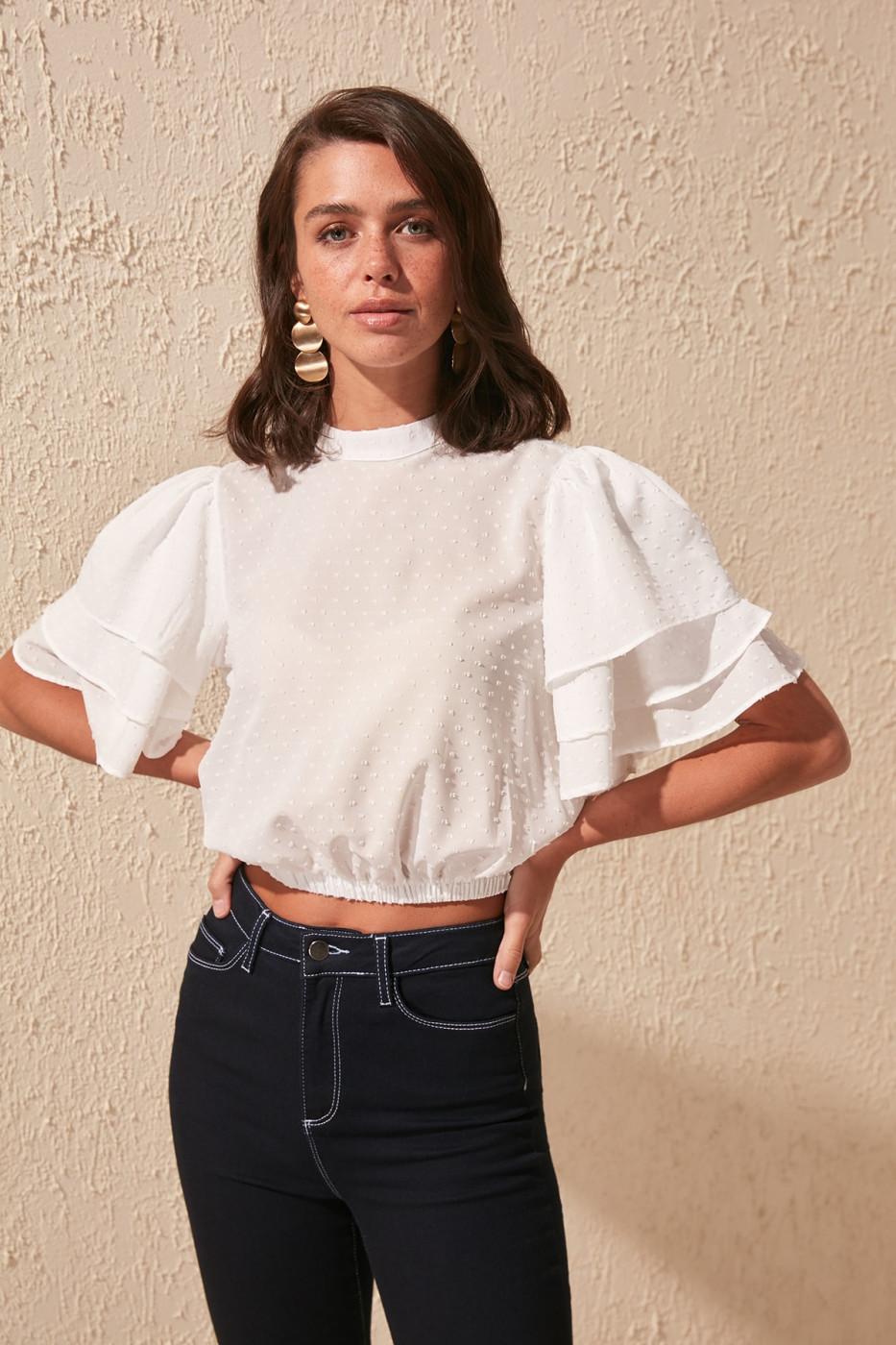 Women's Blouse Trendyol Binding Detailed