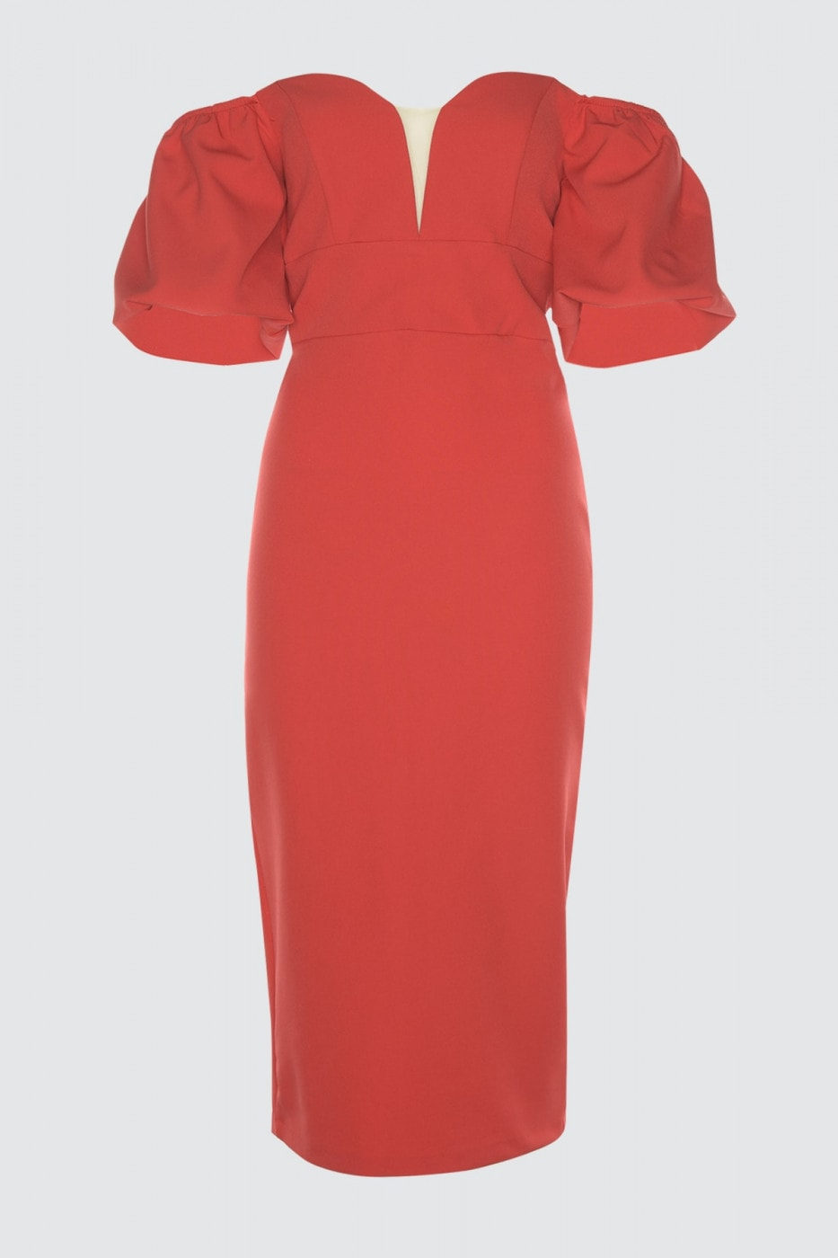 Trendyol Red Puff Sleeve Dress