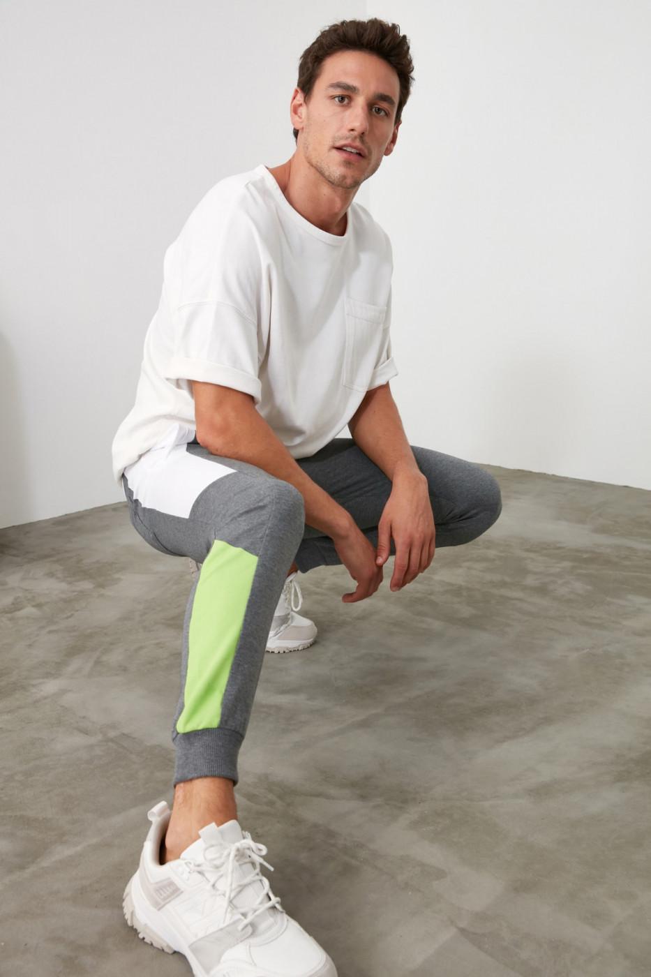 Men's sweatpants Trendyol Color Block